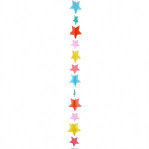 Balloon Tails - Multicolour Stars Balloon Tail (1.2m) | Free Delivery Available